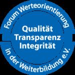 Siegel: Forum Werteorientierung in der Weiterbildung e.V.